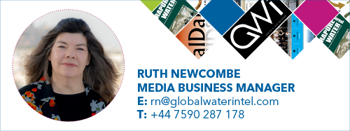 Contact Ruth Newcombe for more information about advertising opportunities with Global Water Intelligence